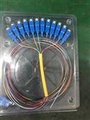 电信级12芯彩色束状SC光纤尾纤