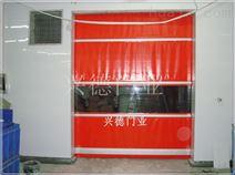 厂家直销车间室内互锁感应红色快速升降门