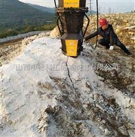 石头很硬打不动小型液压劈裂机广东施工队